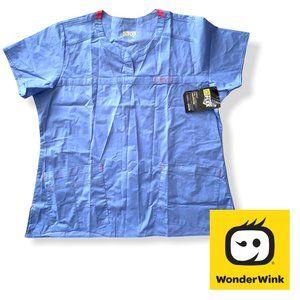 🍁2/$30🍁 Wonderwink Women's Scrub Top, Ceil Blue